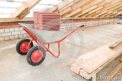 Professional galvanized wheelbarrow