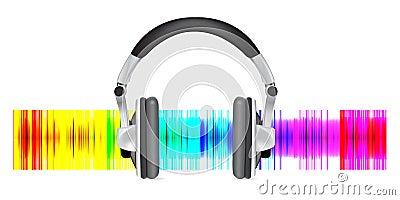 Professional icon of the headphones