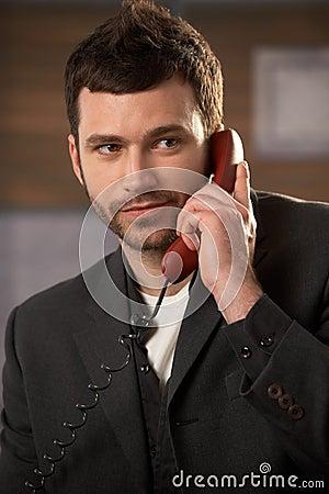 Professional on landline call