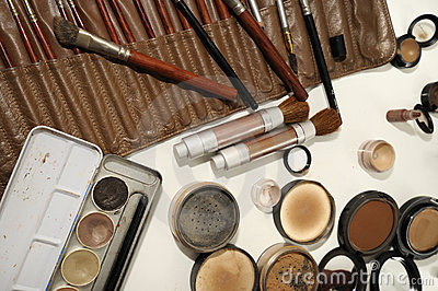 Professional make up artist set