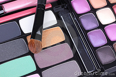 Professional make up brush on eyeshadows set