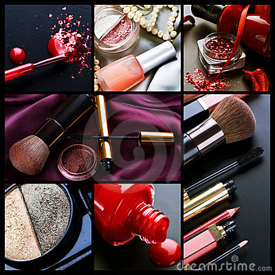 Free Professional Make-up Collage Stock Images - 15791004