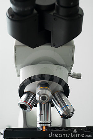 Professional Medical Microscope Royalty Free Stock Image - Image: 21239416