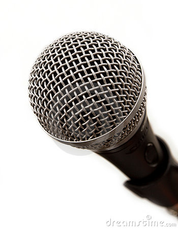 Professional microphone close-up