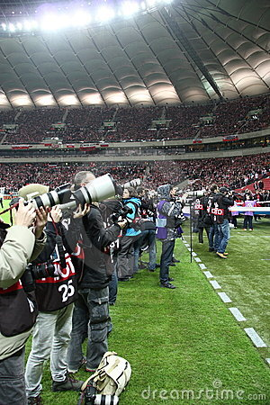Professional sports photographers Editorial Image