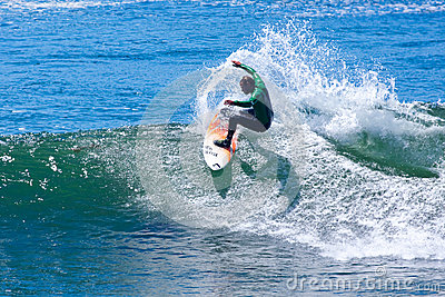 Professional Surfer Mike Golder Surfing California Editorial Photo
