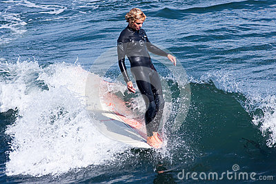 Professional Surfer Reilly Stone Surfing California Editorial Photo