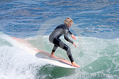 Professional Surfer Reilly Stone Surfing California Editorial Image