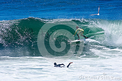 Professional Surfer Shaun Burns Surfing California Editorial Image