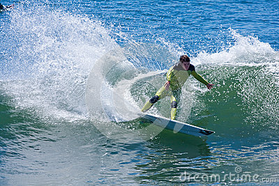Professional Surfer Shaun Burns Surfing California Editorial Stock Photo