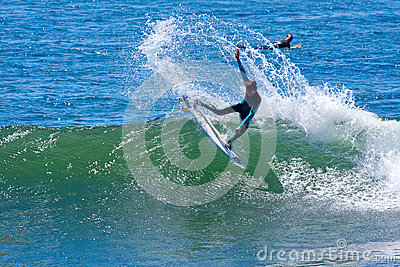 Professional Surfer Wyatt Barrabee Surfing California Editorial Photography