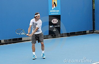 Professional tennis at the 2012 Australian Open Editorial Photography