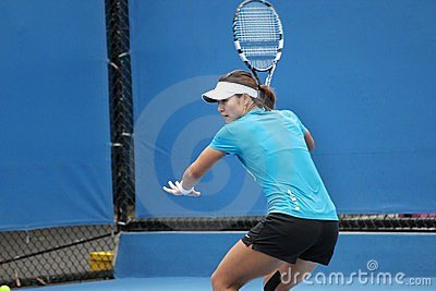 Professional tennis at the 2012 Australian Open Editorial Photo