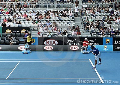 Professional tennis at the 2012 Australian Open Editorial Image