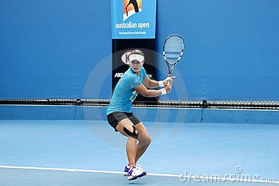 Professional tennis at the 2012 Australian Open Editorial Stock Image