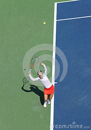 Professional tennis player Christina McHale during her first round match at US Open 2013 Editorial Stock Photo