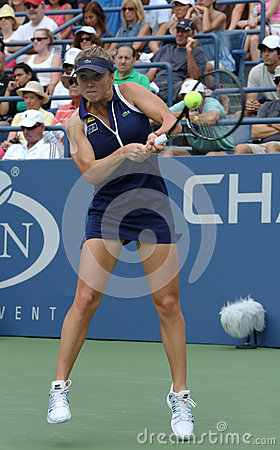 Professional tennis player Elina Svitolina during second round match at US Open 2013 against Christina McHale Editorial Photo