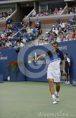 Professional tennis player Richard Gasquet during his semifinal match at US Open 2013 against Rafael Nadal Editorial Photo