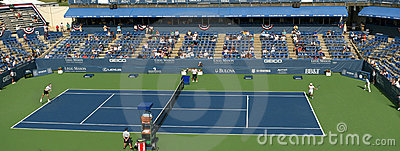 Professional Tennis Players - Match, Stadium Editorial Photo