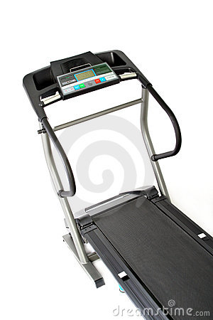 Professional treadmill isolated