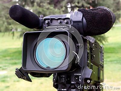 Professional  video camera.