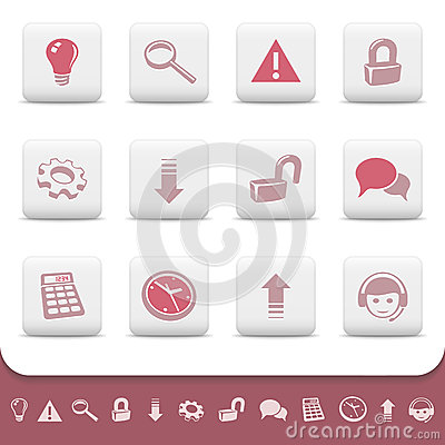 Professional web icons buttons vector set 2