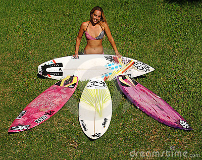 Professional Woman Surfer Cecilia Enriquez Editorial Photography