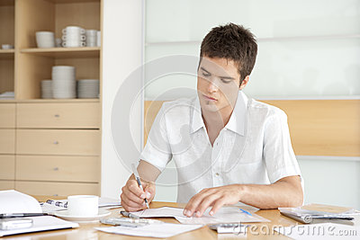 Professional Working on Finances