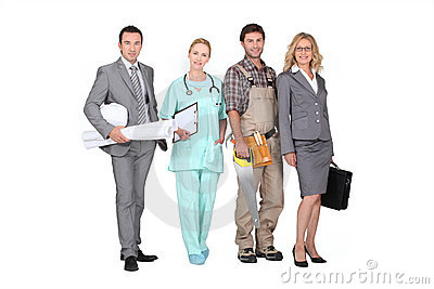 Professionals from different domains