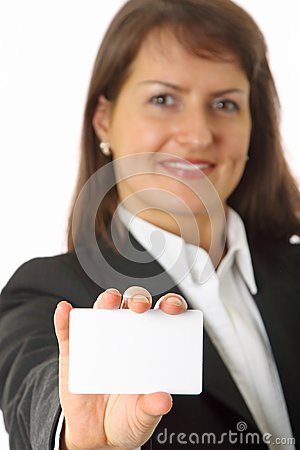 professionals white business card