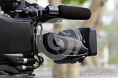 Professionele videocamera.