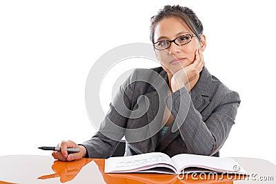 Professor at a desk