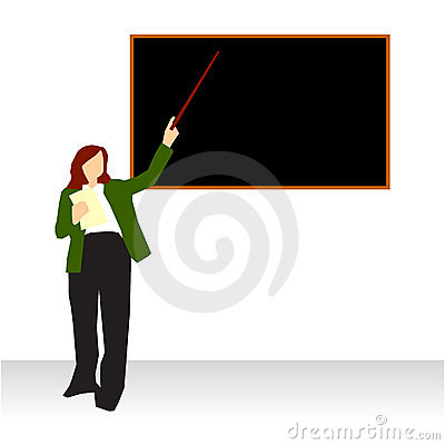 Professor teaching at blackboard