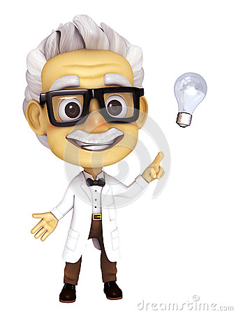Free Professor With Idea Stock Images - 37632614
