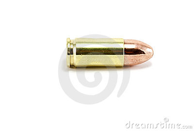 Profile of a 9mm bullet