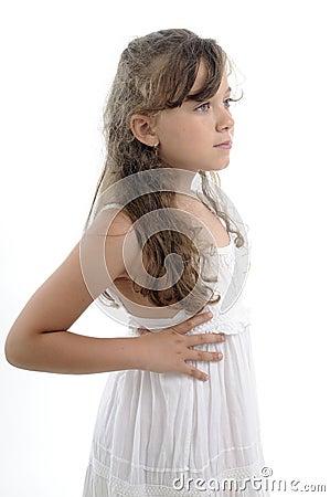 Profile of blonde girl