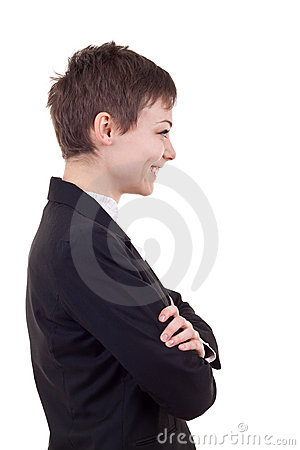 Profile of a business woman