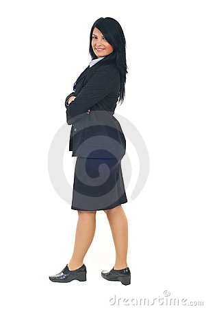 Profile of business woman