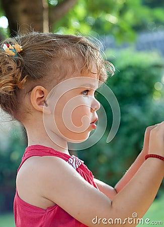 Profile of cute girl