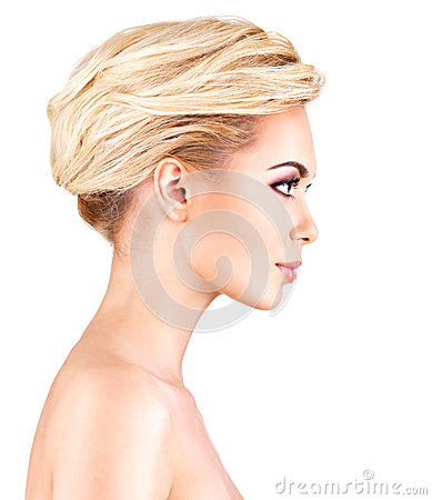Free Profile Face Of Young Woman Royalty Free Stock Photos - 35879118