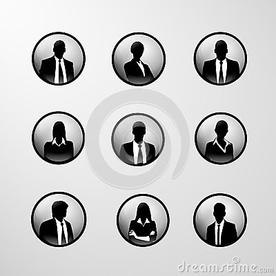 Profile Icon Business Set Male And Female Stock Vector ...