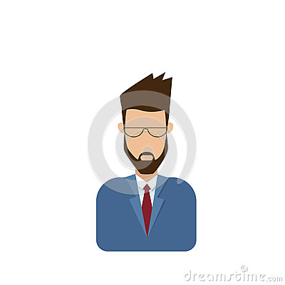 Free Profile Icon Male Avatar Man, Hipster Cartoon Guy Beard Portrait, Casual Person Silhouette Face Stock Images - 82677024