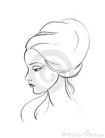Profile of the lady