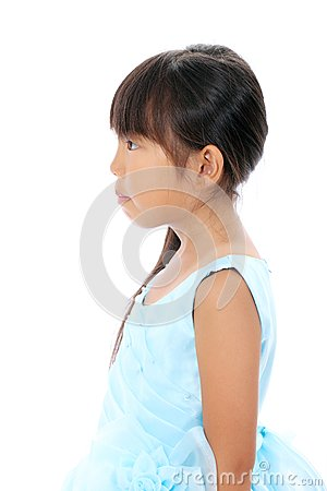 Profile of little asian girl