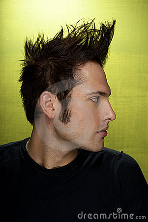 Profile of Man with Mohawk