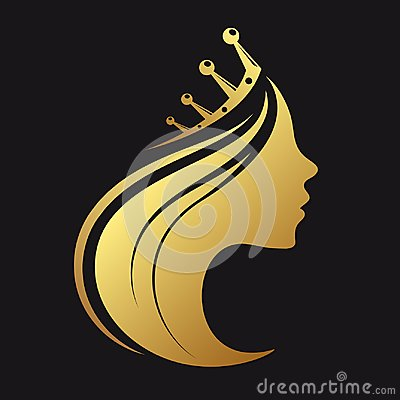 Free Profile Of A Girl With A Crown Royalty Free Stock Photo - 121268615