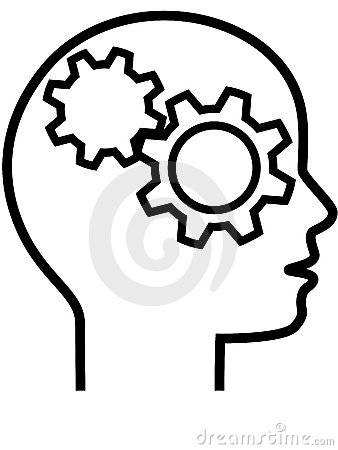 Free Profile Of Gear Head Brain Thinker Outline Royalty Free Stock Image - 8550356