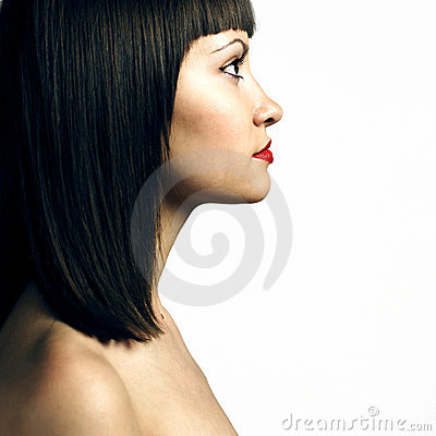 Free Profile Of Woman With Strict Hairstyle Royalty Free Stock Photo - 10299415