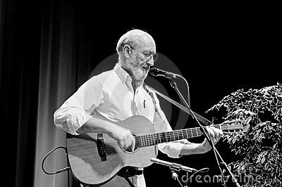 Profile of Paul Stookey Editorial Stock Image