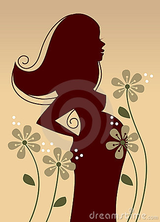 Profile of pregnant woman